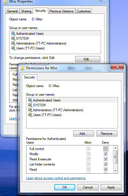 how to set password for shared folder in windows 7